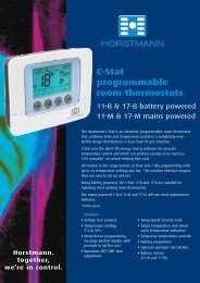 C-Stat programmable room thermostats - Horstmann