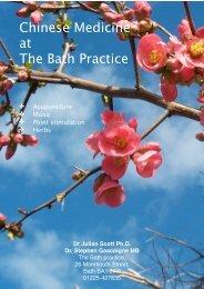 Chinese medicine at the Bath practice - Julian Scott