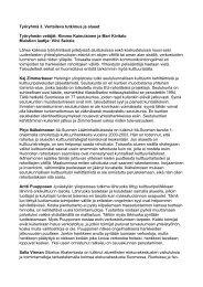 Työryhmä 3. Vertaileva tutkimus ja alueet Työryhmän ... - Cupore
