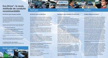 Eco-Drive®– la seule méthode de conduite ... - Rallye21