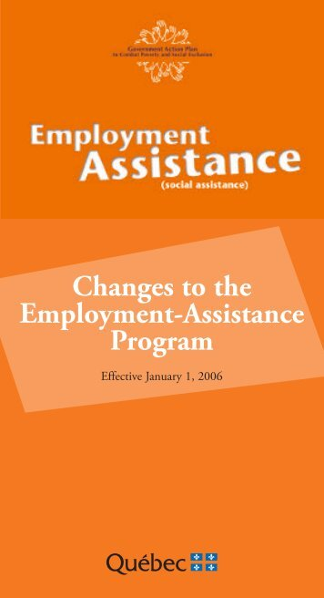 Changes to the Employment-Assistance Program