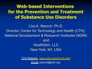 Web-based Interventions - National Cannabis Prevention and ...