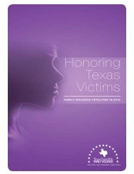 Honoring Texas Victims: Domestic Violence Fatalities