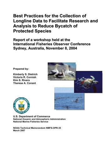 Best Practices for the Collection of Longline Data to Facilitate ...