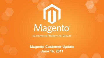Corporate Sales Presentation - Magento