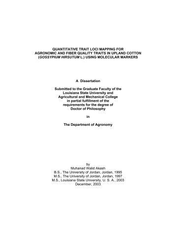 Dissertation thesis online