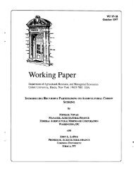 Working Paper - Department of Applied Economics and ...