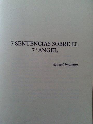 Siete sentencias del séptimo ángel. - EURACA