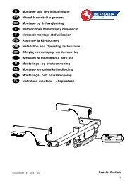 Lancia Ypsilon D Montage- und Betriebsanleitung Návod k montáži ...