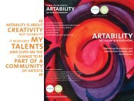 Artability Art Show & Workshops Brochure - People Incorporated