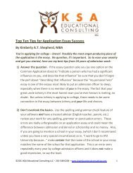 Top Ten Tips for Application Essay Success By ... - We Add Up