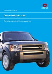 Corus Strip Products UK - Tata Steel in the automotive industry