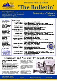 2013 Newsletter 21 - Doncaster Primary School