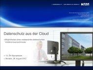 Datenschutz aus der Cloud - Oev-symposium.de