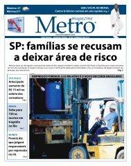 sP: famílias se recusam a deixar área de risco - Metro Magazine