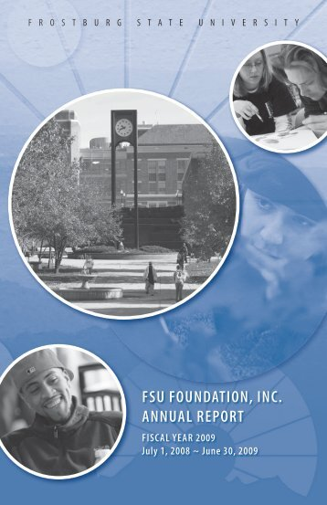 FSU FoUndation, inc. annUal report - Frostburg State University