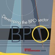 Developing the BPO Sector - Business Trust