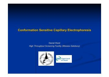 Conformation Sensitive Capillary Electrophoresis Conformation ...