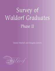 Survey of Waldorf Graduates, Phase 2 - Waldorf Research Institute