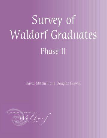 Survey of Waldorf Graduates, Phase 2 - Waldorf Research Institute