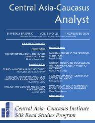 Zoya Pylenko - The Central Asia-Caucasus Analyst