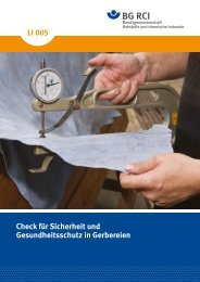 Check Gerber (Li005) - Berufsgenossenschaft Rohstoffe und ...