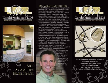 ART. SYMMETRY. EXCELLENCE. - Cosmetic Dentistry Riverside CA