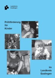 Wegweiser Frühförderung - Landkreis Esslingen