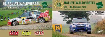 30. Oktober 2010 - Rallye Waldviertel