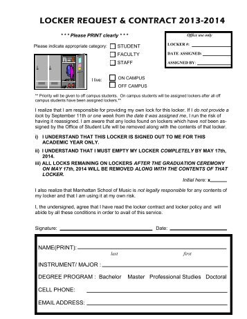 Application for sevis form i 20 manhattan school of music locker request form manhattan school of music altavistaventures Image collections