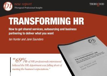 Transforming HR [L A5] - Thorogood Publishing