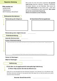 Rücksende-Formular - ecoObs GmbH