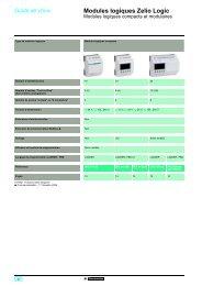 Modules logiques Zelio Logic - Schneider Electric