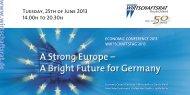 Panel I - Wirtschaftsrat der CDU e.V.