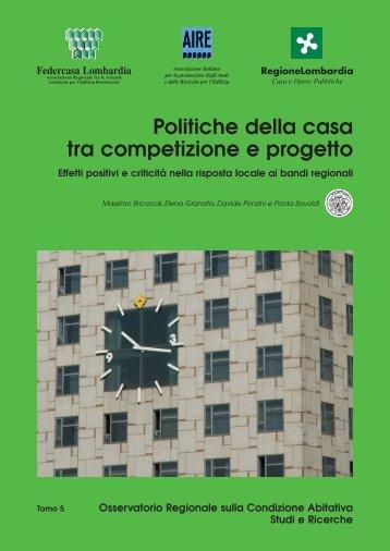 Politiche della casa tra competizione e progetto - federcasa lombardia