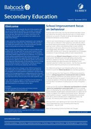 surrey secondary schools newsletter - issue 6 fv email version