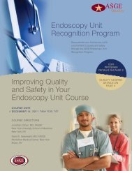 Endoscopy Unit Recognition Program Improving Quality and Safety ...