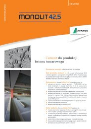 Karta produktowa cementu Monolit CEM III A 42,5 N-LH ... - Lafarge