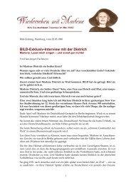BILD-Exklusiv-Interview mit der Dietrich - Marlene Dietrich - Ihre Filme