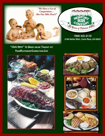 """""""We Have a Lot of Competition… But Our Ribs Don't!"""" (949) 631-2110"""