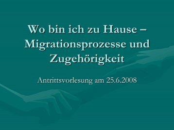 Migrationsprozesse und Zugehörigkeit - Philip Anderson
