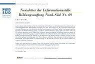 NEWSLETTER Bildungsauftrag Nord-Süd Nr. 69 | Januar 2013