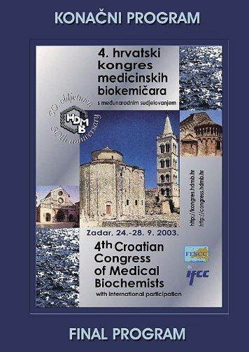 Konačni program (PDF) - Klinički zavod za kemiju