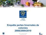 Enquète mortalité présentée par l'ITSAP à l'assemblée Générale ...