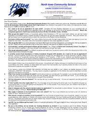 Free/Reduce Forms - North Iowa Community School