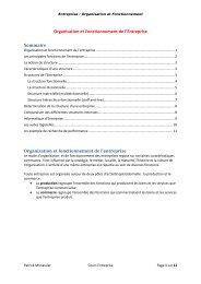 Organisation et fonctionnement de l'entreprise - Patrick MONASSIER