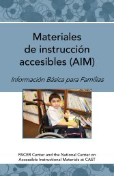 Materiales de instrucción accesibles - National Center on ...