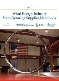 Wind Energy Industry Manufacturing Supplier Handbook