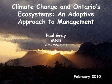 Ecosystem Adaptation - Ontario Centre for Climate Impacts and ...