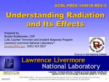Understanding Radiation and Its Effects - Phil Rutherford